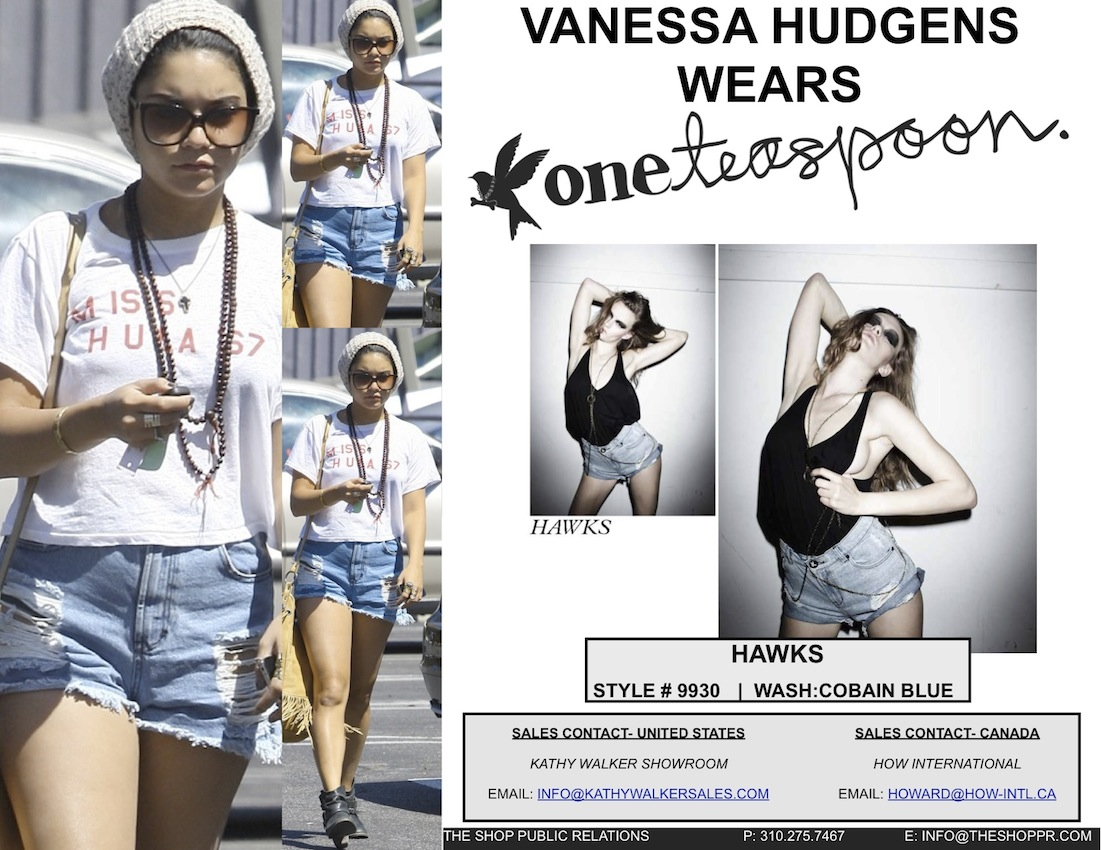 One Teaspoon Hawks Shorts Vanessa Hudgens wearing One